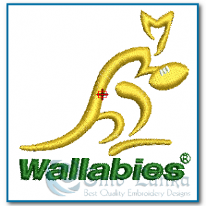 Australian Rugby Logo Embroidery Design