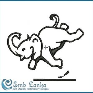 Baby Elephant-1 Embroidery Design Animals
