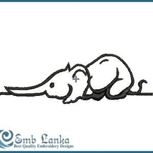 Baby Elephant-3 Embroidery Design Animals