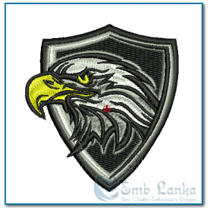 Bald Eagle Mascot Badge Embroidery Design Birds