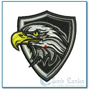 Birds Bald Eagle Mascot Badge Embroidery Design [tag]