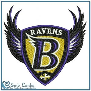 Logos Baltimore Ravens Logo Embroidery Design [tag]