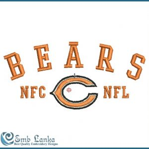Bears NFL Logo Embroidery Design Logos
