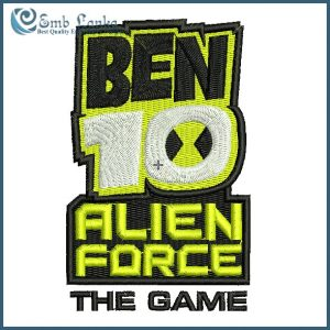 Ben 10 Alien Force Logo Embroidery Design