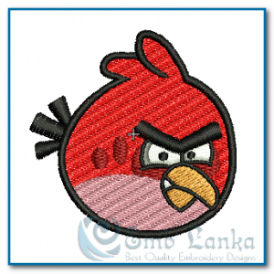 Big Red Angry Bird Embroidery Design Birds
