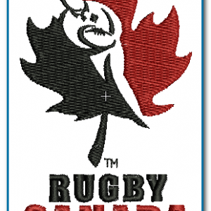 Canada Rugby Logo Embroidery Design Logos