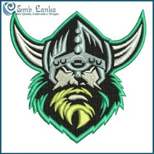 Canberra Raiders Logo Embroidery Design