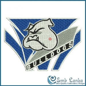 Canterbury Bulldogs NRL Logo 2 Embroidery Design
