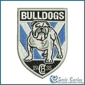 Canterbury Bulldogs NRL Logo Embroidery Design