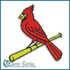 Birds Cardinals Logo Embroidery Design [tag]