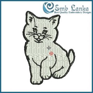 Cat Embroidery Design Animals
