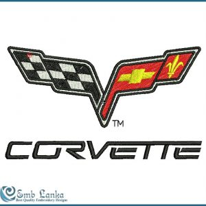 Flags Chevrolet Corvette Logo Embroidery Design [tag]