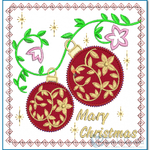 Christmas Card Embroidery Design Christmas