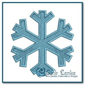 Christmas Snow Symbol Embroidery Design