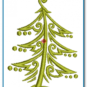 Christmas Tree Embroidery Design Free designs