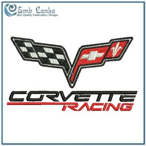 Flags Corvette Racing Logo Embroidery Design [tag]