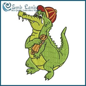 Crocodile Tears Embroidery Design Animals