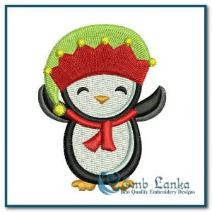 Appliques Cute Boy Jolly Penguin 1 Embroidery Design [tag]