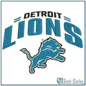 Detroit Lions Logo 2 Embroidery Design Logos [tag]