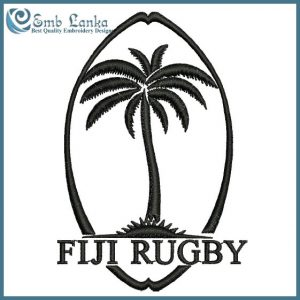 Fiji National Rugby Union Team Logo Embroidery Design