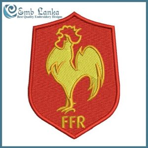 France National Rugby Union Team Logo Embroidery Design