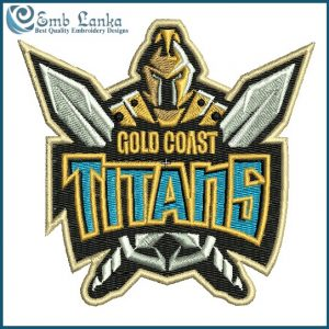 Gold Coast Titans Logo Embroidery Design