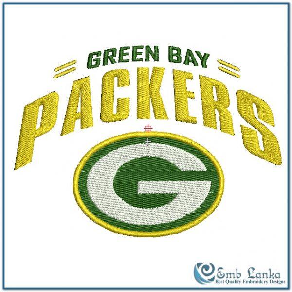 Green Bay Packers Logo 2 Embroidery Design Emblanka