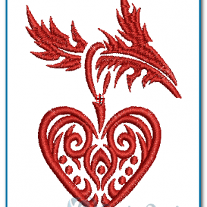Heart Decoration Embroidery Design
