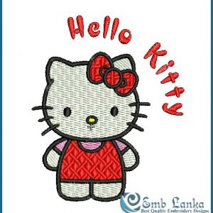 Hello Kitty 2 Embroidery Design