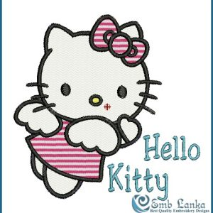 Hello Kitty 3 Embroidery Design
