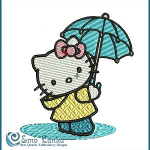 Hello Kitty 4 Embroidery Design