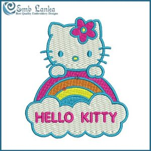 Hello Kitty 5 Embroidery Design