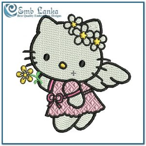 Angels Hello Kitty Angel Embroidery Design [tag]