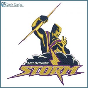 Melbourne Storm Logo Embroidery Design