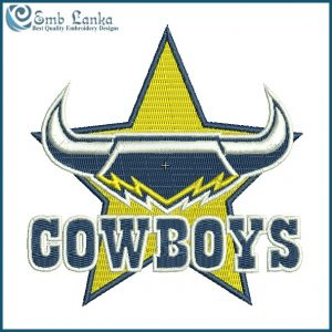 North Queensland Cowboys Logo Embroidery Design