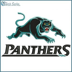 Penrith Panthers Logo Embroidery Design Logos