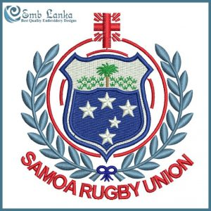 Samoa National Rugby Union Team Logo Embroidery Design