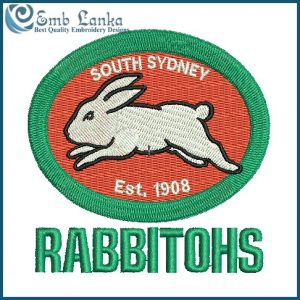 South Sydney Rabbitohs Logo Embroidery Design Logos