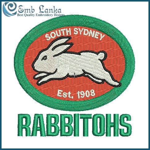 South Sydney Rabbitohs Logo Embroidery Design Emblanka