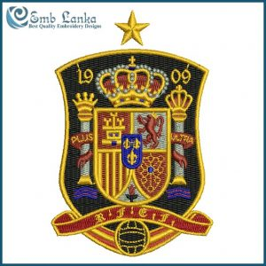 Spain National Football Team Logo Embroidery Design Logos