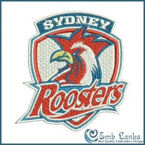 Sydney Roosters Logo Embroidery Design
