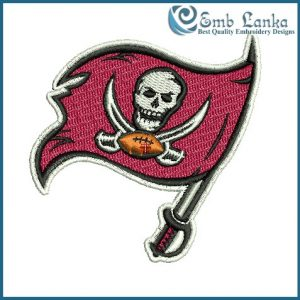 Tampa Bay Buccaneers Logo Embroidery Design