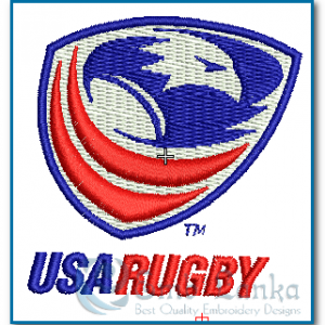 USA Rugby Logo Embroidery Design