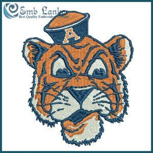 Vintage Auburn Tiger Logo Embroidery design