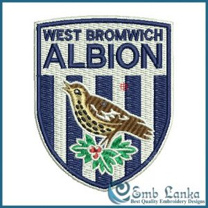 West Bromwich Albion Football Club Logo Embroidery Design Birds