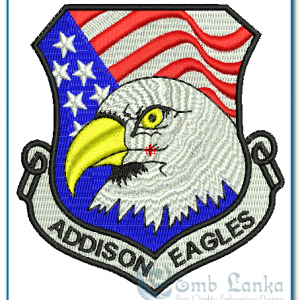 Birds American Flag & Eagles Embroidery Design [tag]