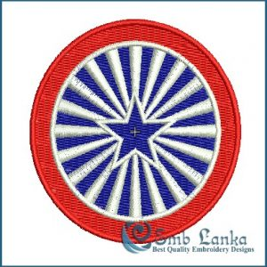 American Stars and Stripes Label Embroidery Design Flags