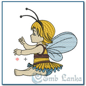Baby Girl Angel Embroidery Design Angels
