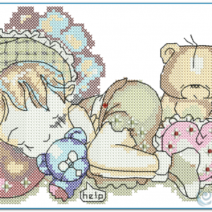 Baby Girl Cross Stitch Embroidery Design Cross Stitch