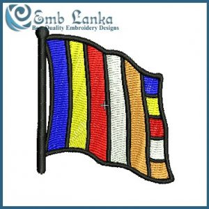 Buddhist Waving Flag Embroidery Design Flags